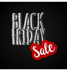 Black Friday sales label chalk tag vector image