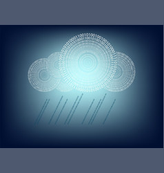 blue background with computer cloud vector image vector image