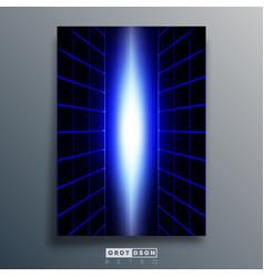 blue neon design for wallpaper poster flyer vector image