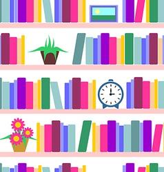 Bookshelf seamless vector