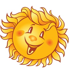 cartoon smiling sun vector image