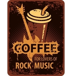 Coffee lovers of rock music vector