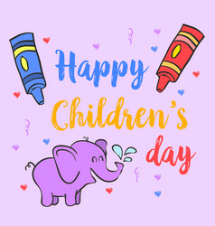 Collection stock children day doodles vector