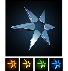 Color star vibrant emblems vector