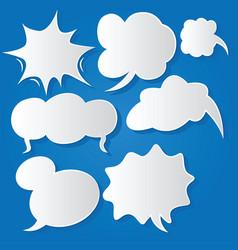 Comic bubble speech balloons speech cartoon 216 vector