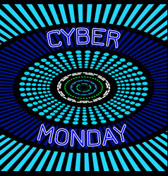 Cyber monday discount day in online stores vector