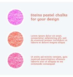 Design elements pastel chalks vector