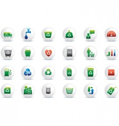 eco white buttons vector image