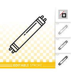 Economy light bulb simple black line icon vector