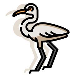 Egret linecolor vector