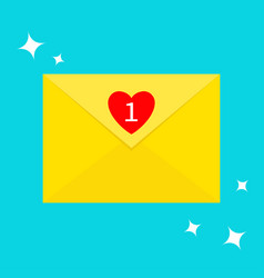 email icon yellow paper envelope letter template vector image