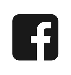facebook logo of social network has printed on vector image