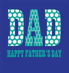 fathers day with golfball pattern vector image