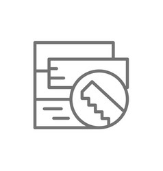 floorboard parquet board line icon isolated on vector image