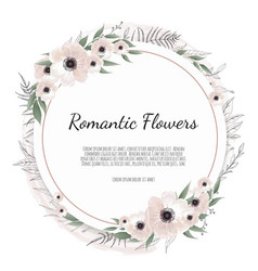 Floral frame greeting postcard wedding vector