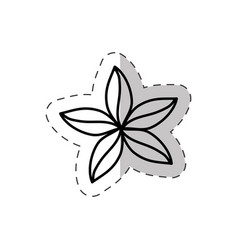Flower natural ornate cut line vector