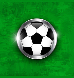 Football icon soccer ball with glass covered vector