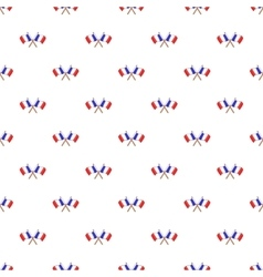 French flag pattern cartoon style vector