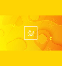 futuristic design yellow background templates vector image