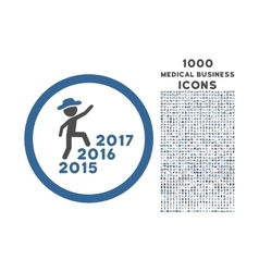 Gentleman Steps Years Rounded Icon with 1000 Bonus vector image