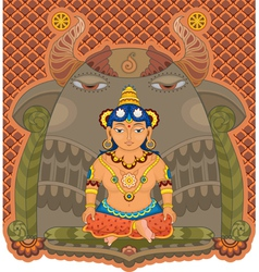 girl india goddess vector image