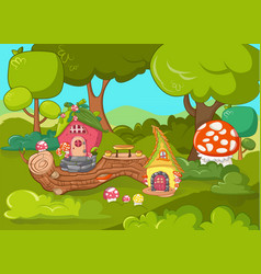 Gnome garden concept banner cartoon style vector