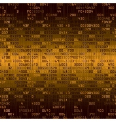 Gold security background with HEX-code vector