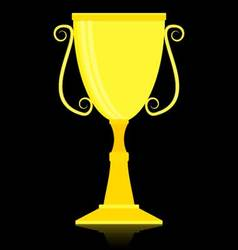 Gold trophy cup vector