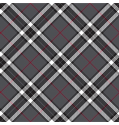 Gray seamless diagonal tartan vector