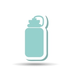 Gym water bottle design vector