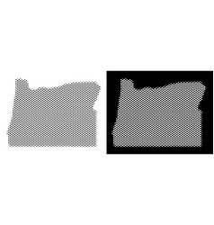 Halftone oregon state map vector