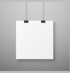 hanging picture blank photo paper template vector image