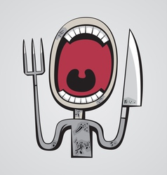 Hungry throat vector