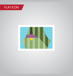 isolated glass frame flat icon curtain vector image