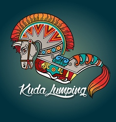 Kuda lumping or horse braid vector