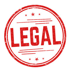 legal sign or stamp vector image