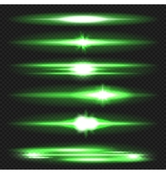 Lens flares set vector image
