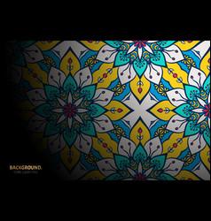 Luxury islamic background with mandala vector
