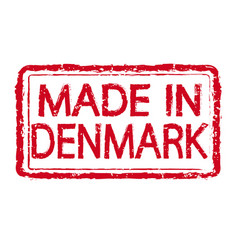 made in denmark stamp text vector image