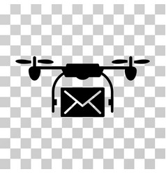 Mail delivery drone icon vector