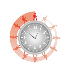 man running around clock vector image vector image