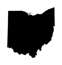 Map us state ohio vector