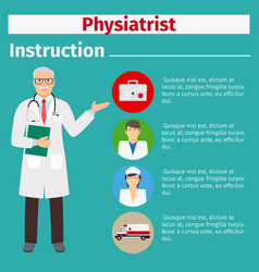 medical equipment instruction for physiatrist vector image