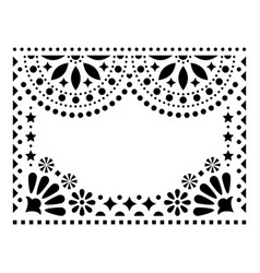 Mexican design greeting card invitation vector
