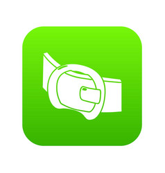 Modern belt icon green vector