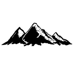 mountains in vintage style design element for vector image