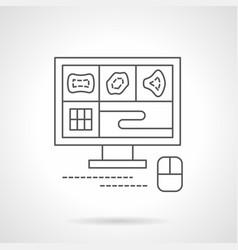 Mri scan monitor flat line icon vector