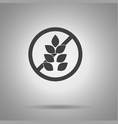 no gluten icon crossed out gluten symbol vector image