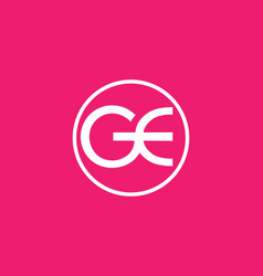 pink white gc initial letter logo vector image