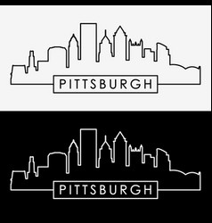 Pittsburgh skyline vector
